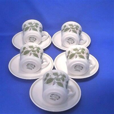Royal Albert Rose Arbour - 5 x Tea Cups & Saucers - Vintage & Rare 1970s VGC