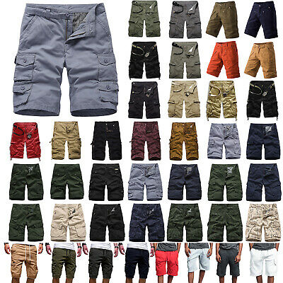 Mens Summer Shorts Cargo Pants Casual Short Trousers Cotton Combat Army Trousers