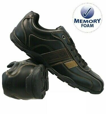 Mens Casual Memory Foam Walking Hiking Shoes Driving Boat Sports Trainers Sizes