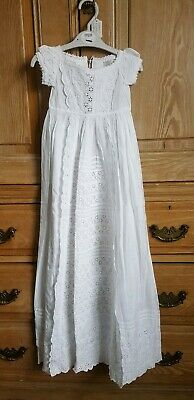 Pretty Vintage Cotton Christening Gown.