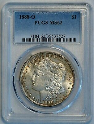 1888 O $1 US Morgan Silver Dollar Coin (PCGS MS 62 MS62) (A8934)