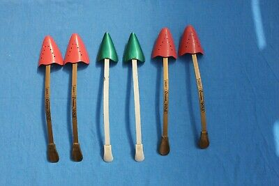 3 pairs 1960's vintage Ladies red/green Shoe Stretchers
