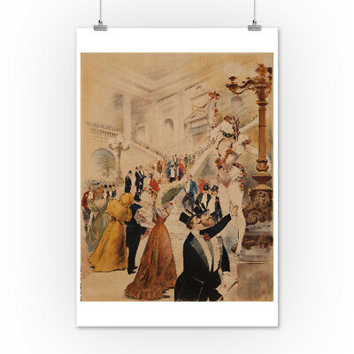 Bal a l'Opera Vintage Poster France c. 1898 (Art Posters, Wood & Metal Signs)