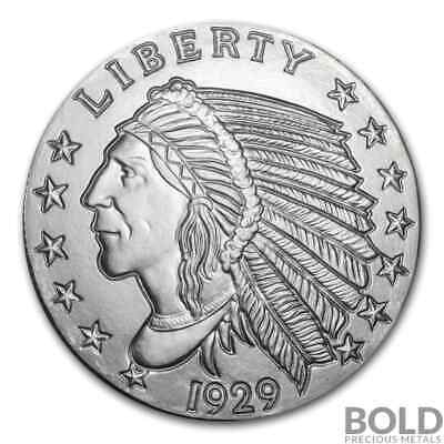 Silver - 5 oz Incuse Indian Round