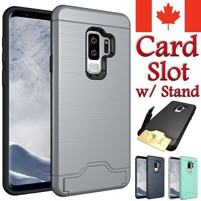 Samsung Galaxy S9 | Plus Case - Card Slot KickStand Wallet Stand Hard Back Cover