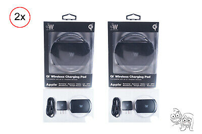 Lot of 2 - Just Wireless Qi Wireless Charging Pad for Samsung & iPhone 8 & X Max