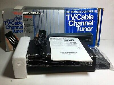 Vintage Universal V7072 Wireless Remote Control TV-Cable Channel New Open Box.