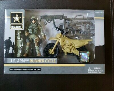 NEW Official Licensed 3 3//4 Inch U.S Army Runner Cycle Action Figure by Excite