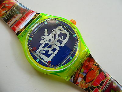 1996 Swatch watch Art Special  Musical Zapping SLZ104PACK