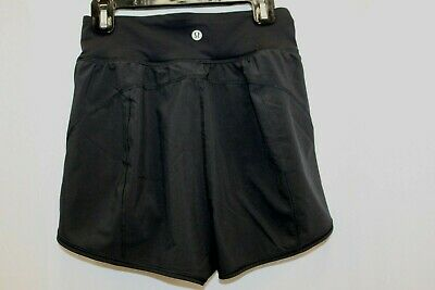 27ca977a695dea Lululemon High Waisted Black Lined Built In Panty Shorts 4 S Small