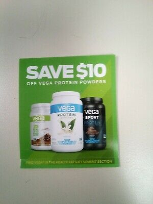 3 Vega Protein Coupons Save $10 on the purchase of one tub