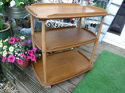 Ercol 3 Tier Trolley/Drinks - Blonde Finish - Assist Courier