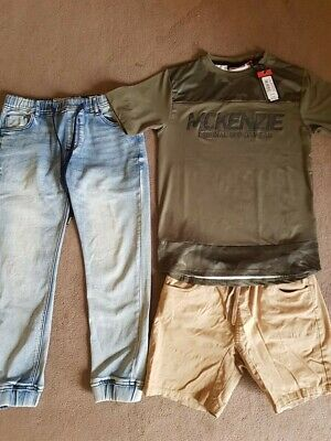 Boys Skinny Jeans, Shorts and Brand New Camoflauge T-shirt (WITH TAGS), Size 12