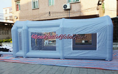 Custom Made Portable Géant Tissu Oxford Gonflable Spray Booth Peinture Boitier