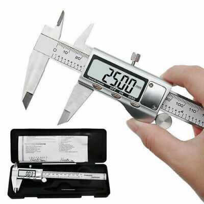 "6"" Digital Vernier Caliper 150mm Full Stainless Steel Micrometer Electronic Tool"