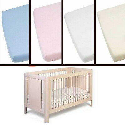 100% Cotton Cot Bed Sheet for Toddler Baby Bed Crib Moses Basket Cotton BedSheet