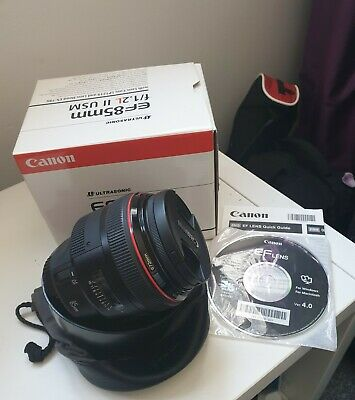 Canon EF 85mm F1.2 L II USM  LENS. Boxed And Immaculate. Hardly used.