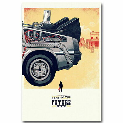 74663 Back To The Future Car 3 Classic Movie Wall Poster Print AU