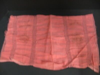 Antique Vintage 1920's Pleated Pink Boudoir Pillow Cover Bucilla you finish