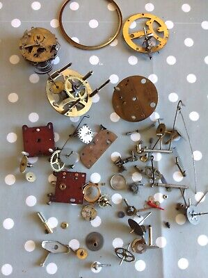 Antique Clock Parts From Clockmakers Collection Spare Parts