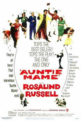 66171 Auntie Mame Movie Rosaland Russell, Wall Poster Print UK