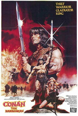 65346 Conan the Barbarian Movie Arnold Schwarzenegger Wall Poster Print UK