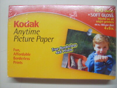 Lot of 7 KODAK 100 Sheet Pack Anytime Picture Paper Soft Gloss 4x6 in