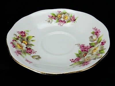 Queen Anne English Fine Bone China Saucer, Floral Pattern Saucer