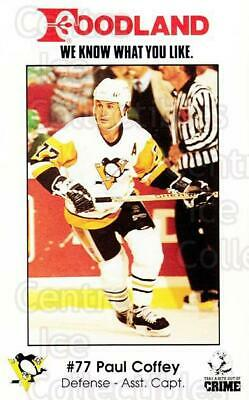 1989-90 Pittsburgh Penguins Foodland #4 Paul Coffey