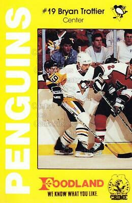 1990-91 Pittsburgh Penguins Foodland #15 Bryan Trottier