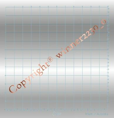 """Premium 12"""" Silver Magnetic Mat + A4 Hold Down Sheet Cut Desired Use Foil Quill"""