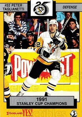 1991-92 Pittsburgh Penguins Foodland #14 Peter Taglianetti