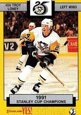 1991-92 Pittsburgh Penguins Foodland #7 Troy Loney