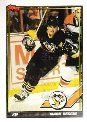 1991-92 Pittsburgh Penguins Foodland Stickers #9 Mark Recchi