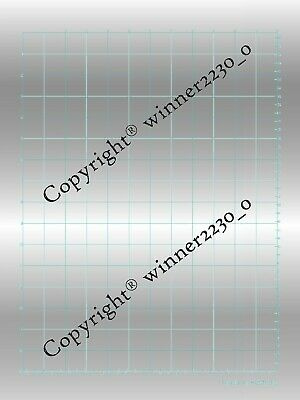 """Premium 12x16"""" Silver Magnetic Mat A4 Hold Down Sheet Cut Desired Use Foil Quill"""