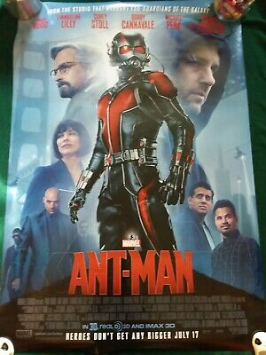 Ant-Man- original DS movie poster - 27x40 D/S Double Sided Marvel