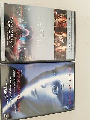 178-Robin williams dvd lot bicentennial men & AI artificial  intelligence