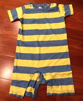 GUC Mini Boden Boys One Piece Playsuit Short Sleeve Shorts Size 18-24 Months