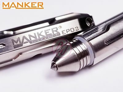 MANKER EP02 Titanium Tactical Emergency Tungsten Tip Glass Breaker Ball Pen