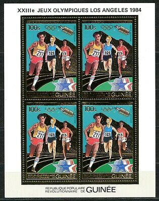 GUINEE 1983 JO Olympic games LOS ANGELES Gold Foil Or MICHEL 934 A cote 60 euros