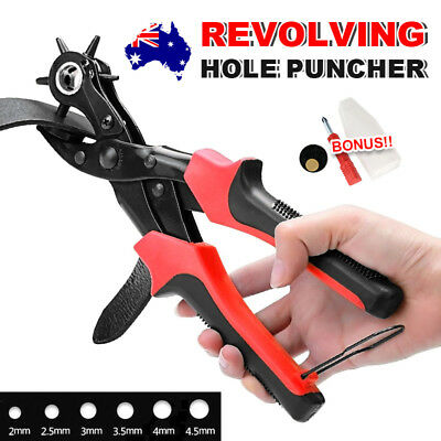 AU Revolving Belt Watch Leather Punch Hand Held Puncher Hole Making Machine