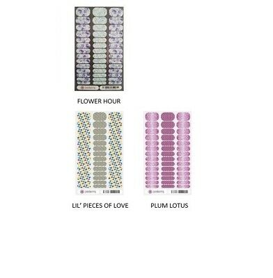 JAMBERRY NAIL WRAPS - JUNIOR WRAP SHEETS, VARIOUS, includes extras, BRAND NEW