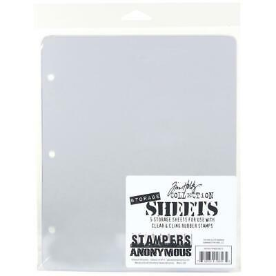 Tim Holtz 5 Storage Sheets For Clear and Cling Rubber Stamps