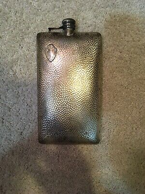 Vintage Flask Electroplated Nickel Silver