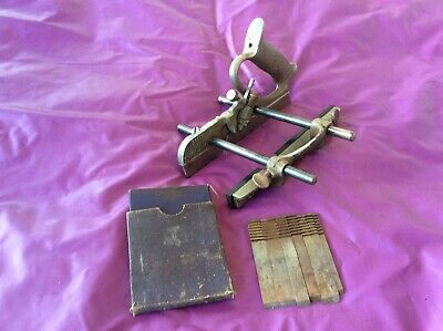 Vintage Record Plane No 004 Plough Cutters Hand Wood Work Carpenters Old Tools