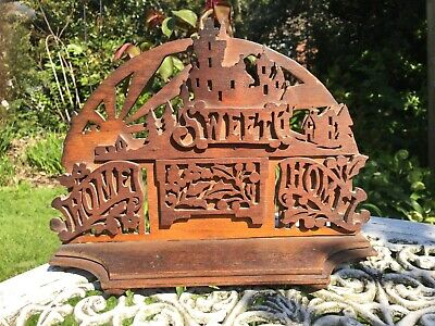 Old piece of fretwork from Hobbies Magazine ? Wood vintage antique Art Deco nice