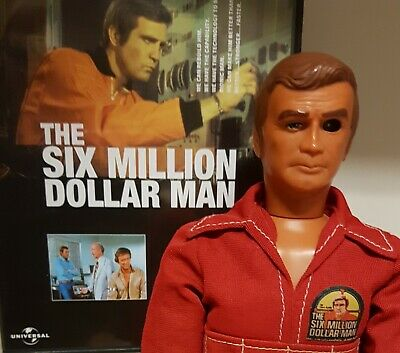 vintage six million dollar man steve austin bionic action figure including dvd