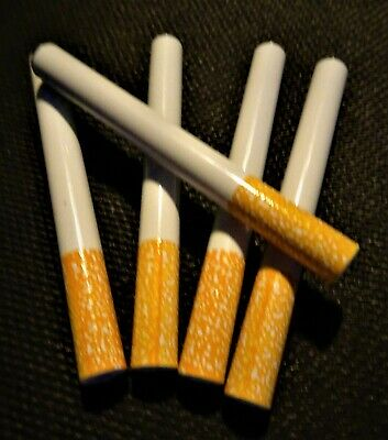 """5X METAL Bat One Hitter Cigarette Style Pipe Large Dugout 3"""" Ceramic Coated"""