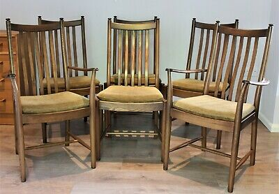 Ercol Windsor Penn Classic Dining Chairs Golden Dawn x 6