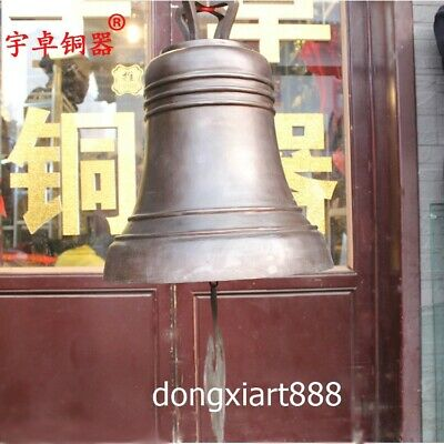 52 cm Chinese Buddhism Temple pure Bronze safe and sound Hang Buddha Church bell